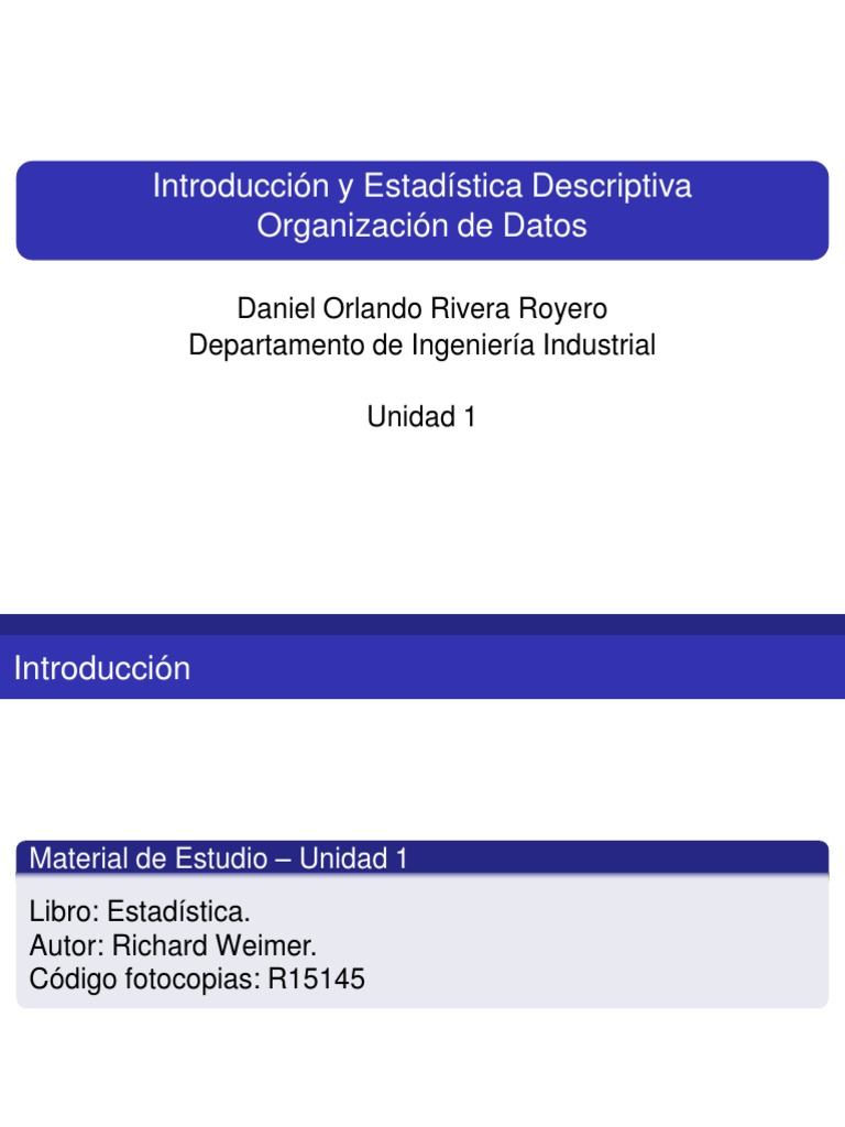 Libro De Estadistica De Richard Weimer Pdf