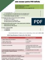 Criterii Noi Clasificare - reumatologie
