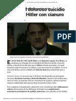 Así Fue El Doloroso Suicidio de Adolf Hitler Con Cianuro