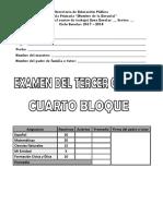 Examen Tercer Grado Bloque4 2017 2018