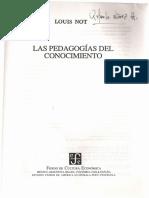 Las Pedagogías Del Conocimiento. Introducción.