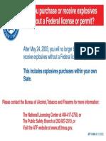 i5400.4 Safe Explosives Act Poster