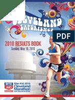 2010 Cleveland Marathon Results Book