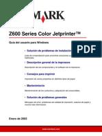 Lexmark Z500-Z600 Series Guía del usuario