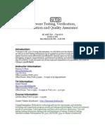 UT Dallas Syllabus for se4367.001.10f taught by Kamran Khan (kkhan)