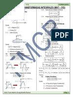 Formulario Transformadas Integrales MAT-315
