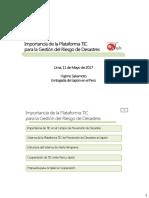 Importancia de La Plataforma Tic Para La Gestion Del Riesgo de Desastres