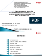 263535621 Gestion Mejora Del Almacen Basada Metodologia 5s Gerencia Procura Empresa Petrourica