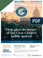 Civic Center Public Realm Plan Workshop 2 Poster