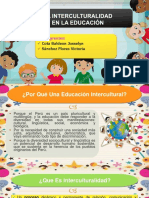 La Interculturalidad en El Sistema Educativo