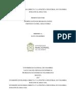 Inversión Extranjera Directa y La Política Industrial en Colombia Durante El Siglo Xxi.