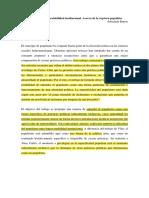 Barros, Espectralidad e Inestabilidad Institucional, La Ruptura Populista