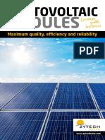Zytech Solar Modules Catalogue