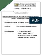 Nivelacion Geometrcia Simple y Reciproca Rrr