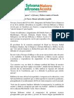 """28/Abril/2018 Apoya """"ejército turquesa"""" a Sylvana y Maloro rumbo al Senado."""