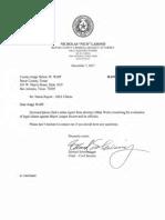 San Antonio Status Report to Wolff December 7 2017 re