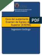 Exens 2017 Guia Del Sustentante Ing. Geologo