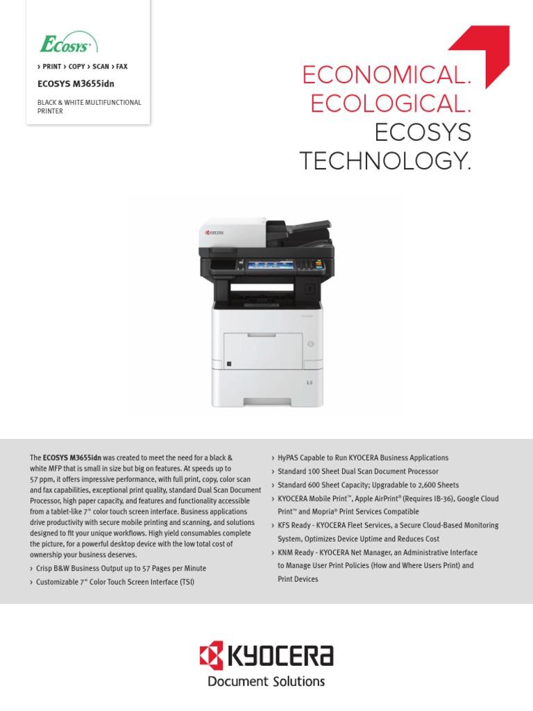 Kyocera ecosys m3550idn error f248
