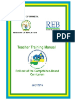 COMPETENCE BASED CURRICULUM FOR RWANDA EDUCATION BOARD(REB)