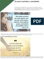 4 Soluções Da Bíblia Para Controlar a Ansiedade