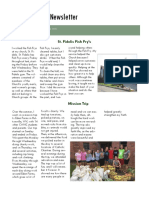 service project newsletter