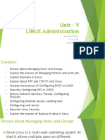 Unit - V LINUX Administration