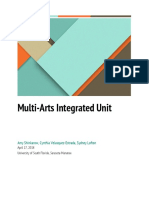 multi-arts integrated lesson
