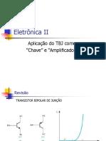 Aula Teórica 12 (01 de 03) - TBJ Como Chave e Amp