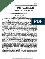 Gazeta de Caracas. 8-4-1818