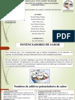 Aditivos; Potenciadores de Sabor y Agentes de Textura