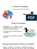 Public Policy Formulation slides
