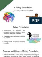 Public Policy Formulation slides