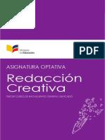 Asignatura Optativa Redaccion Creativa 3BGU