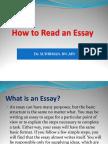 ReadING an Essay