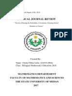 Critical Journal Review Teori Peluang