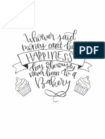 brush lettering assignment