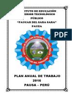 Plan Anual de Trabajo IEST 2016