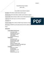 financial plan cover sheet
