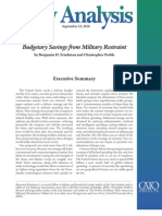 Budgetary Savings from Military Restraint, Cato Policy Analysis No. 667