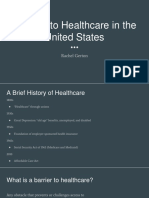 Barriers to Healthcare in the United States