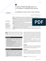 Andersen JH. Risk Factors in the Onset of Neckshoulder Pain in a Prospective Study of Workers in Industrial and Service Companies