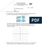 Examen de SuperacionEcuaciòn de La Recta Noveno