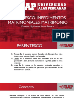 Parentesco. Impedimentos Matrimoniales. Matrimonio (1)