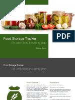Food Storage Tracker Design Spec