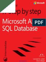 Microsoft Azure SQL Database Step by Step