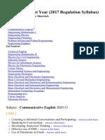Anna University 1st year 2017 Regulation Engineering Notes for all department, 1st, 2nd semester - Brainkart