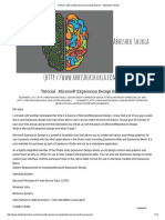 Tutorial _ Microsoft Expression Design Basics – Abhishek Shukla