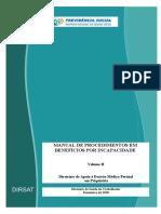 MANUAL DE PROCEDIMENTOS EM BENEFÍCIOS POR INCAPACIDADE Volume II Diretrizes de Apoio à Decisão Médico-Pericial  em Psiquiatria