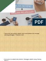 Analisis Ekstrenal Dan Analisis Pelanggan
