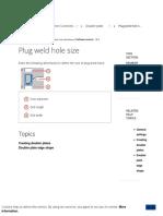 Plug Weld Hole Size _ Tekla User Assistance